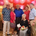 Michael and Mary's daughters and their husbands all came to honor their lifetime of love!