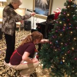 Aileen and Thelma decorating the tree!