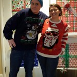 Alex and Rebecca on Ugly Sweater Day!