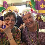 Carol & Mae enjoying Mardi Gras! Congratulations to Carol for finding the baby in the King Cake!