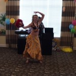 Julie entertaining the crowd with her hula skills!