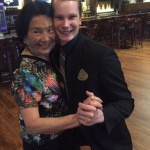 Gloria and David posing after their Waltz together!