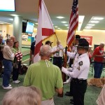 Our residents enjoying the Flag Presentation!