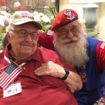 Chuck, a recent Honor Flight at Home participant, shares stories with Santa!