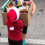 Michelina and Dominic are unloading boxes of presents!