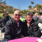 Di and Ken enjoying the sunshine and the festivities.
