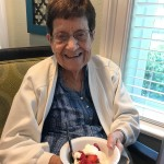 Marie loved all the food but especially the shortcake!