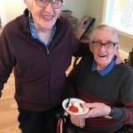 Jean and Jim were going back for more strawberry shortcake!