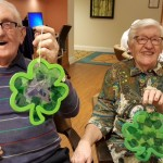 Jim and Jean are showing off their Irish pride!