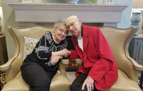 Otto & Louise Celebrate 73rd Anniversary of First Date on Valentine's Day